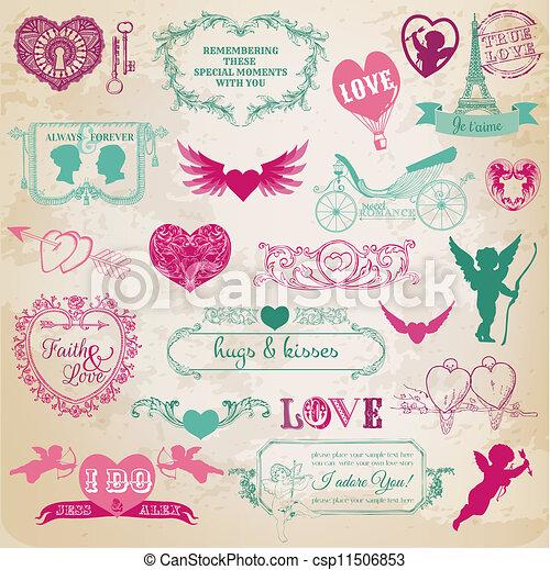 Design Elements - Valentine's Day - csp11506853