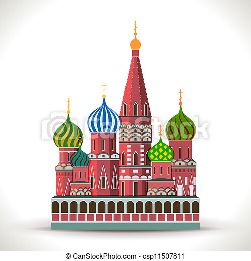 Moscow Kremlin Drawing Kremlin Moscow Isolated on