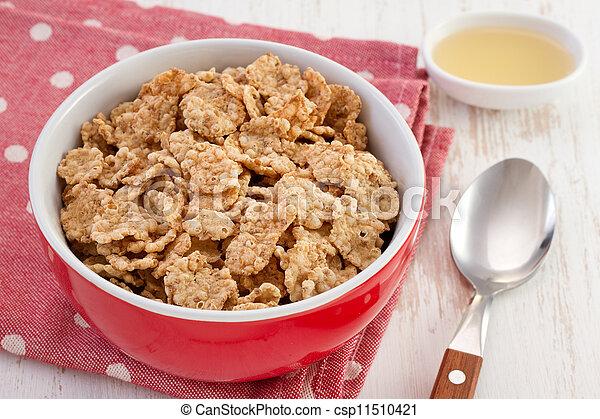 Stock de fotos cereales taz n miel cuchara imagenes for Tazon cereales