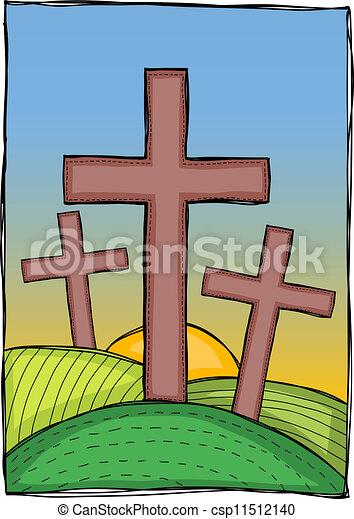 Religion - christian crosses - csp11512140