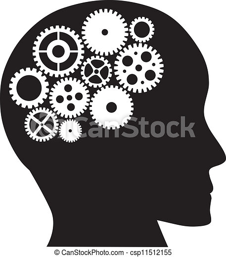 clipart vector of human head with mechanical gears pirate skull clip art free deer skull clip art free