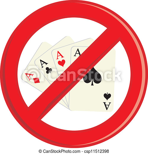 No Gambling cards - csp11512398