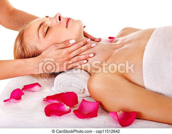 Woman getting  facial massage . - csp11512642