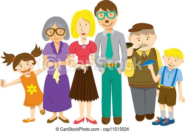 Ilustraciones de Vectores de caricatura, familia csp11513524 ...
