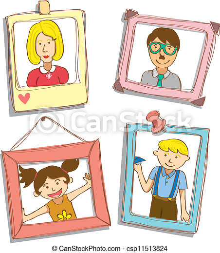 Family Picture Frame Clipart