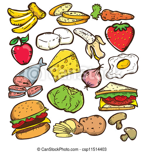 Clip Art Healthy Food Clip Art healthy food clipart vector graphics 159846 eps color version clipartby