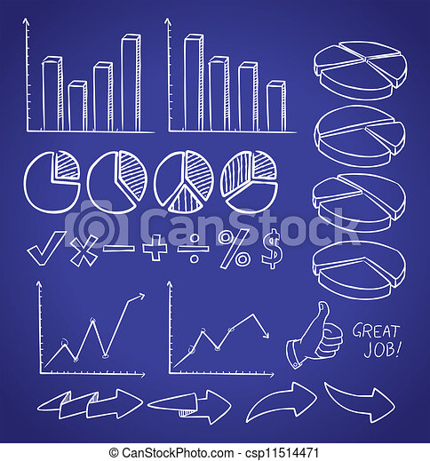 info chart doodle - csp11514471