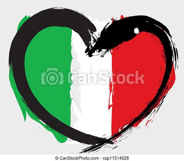 Italy grunge flag - csp11514528