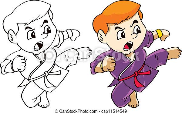 EPS Vector of karate kid cartoon csp11514549 - Search Clip ... Badminton Set