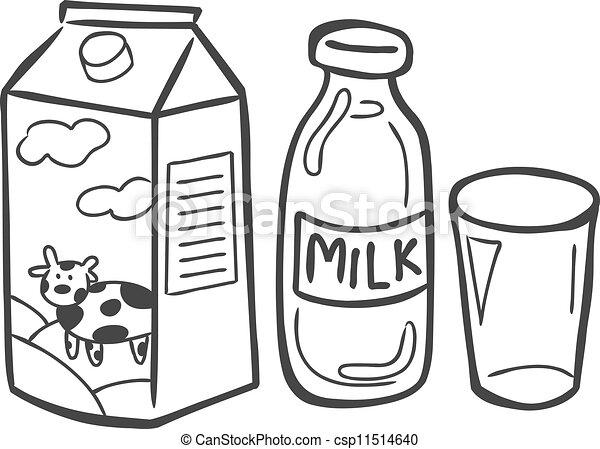 Eps Vector Of Milk Doodle Csp11514640 Search Clip Art