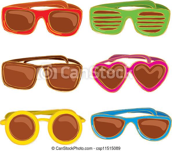 Set of retro sunglasses - csp11515089