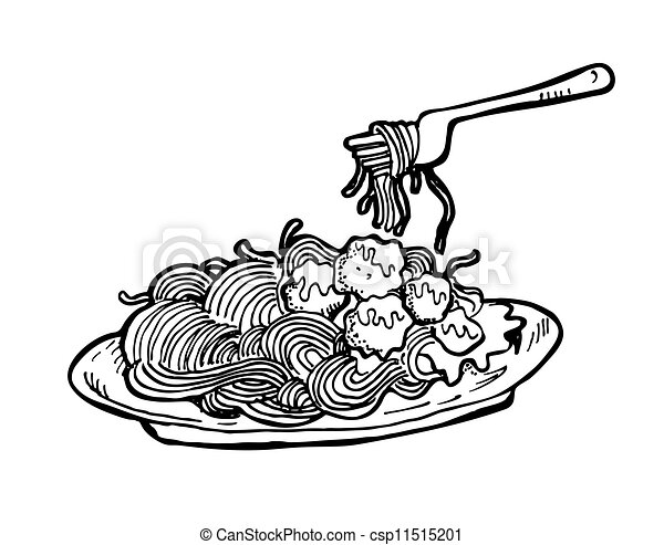 Vector Clip Art de Espaguetis csp11515201 - Buscar Clipart ...