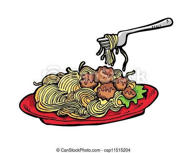 Vector Clipart Of Spaghetti Csp11515204 Search Clip Art