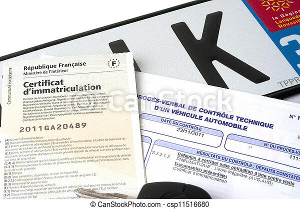 automobile registration - csp11516680