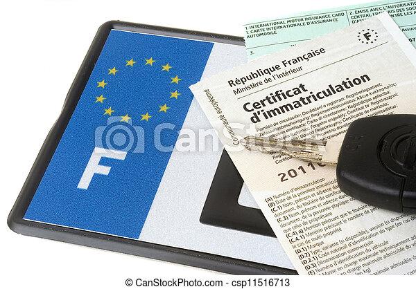 automobile registration - csp11516713