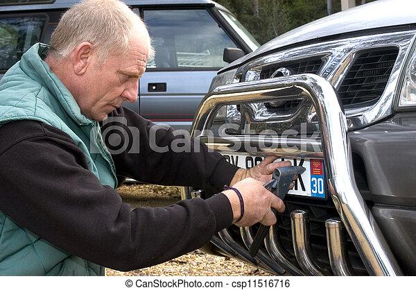 automobile registration - csp11516716