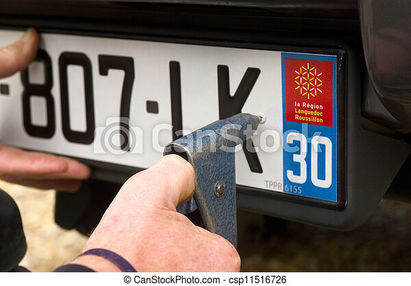 automobile registration - csp11516726