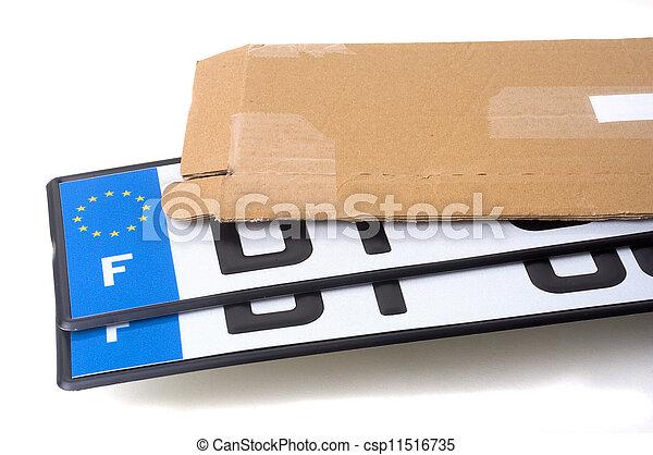 automobile registration - csp11516735