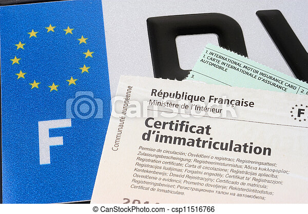automobile registration - csp11516766