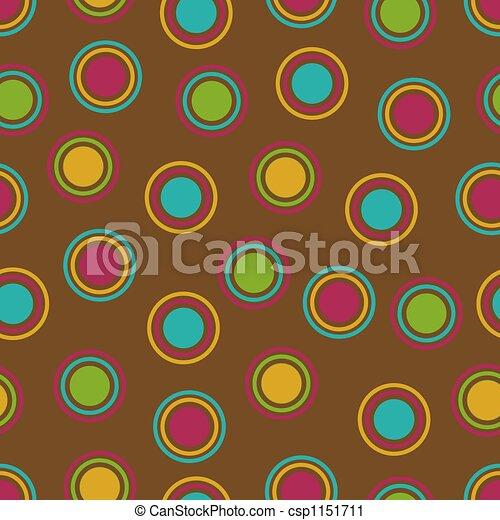 Bold Polka Dots Background - csp1151711