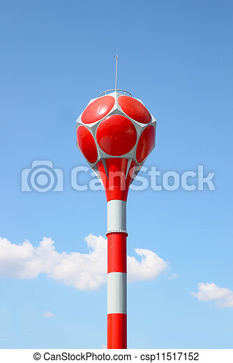 water tower with blue sky - csp11517152