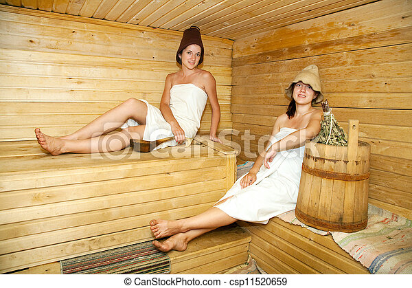 stock bilder von frauen sauna junger frauen nehmen steam bath sauna csp11520659 suchen. Black Bedroom Furniture Sets. Home Design Ideas