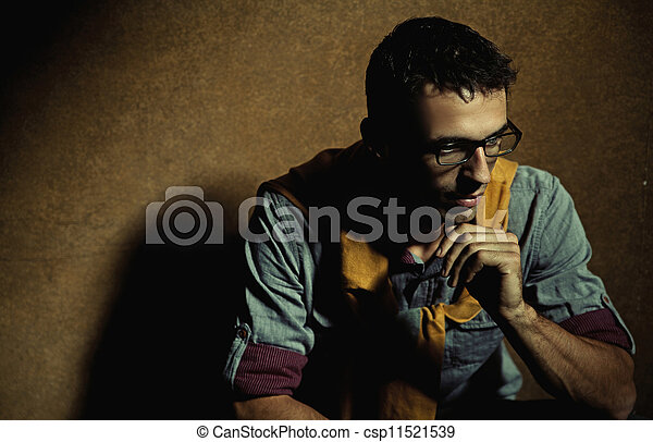 Portrait of handsome man - csp11521539