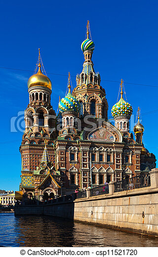Church of the Savior on Blood in summer - csp11521720