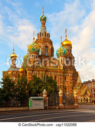 Church of the Savior on Blood in summer  - csp11522088