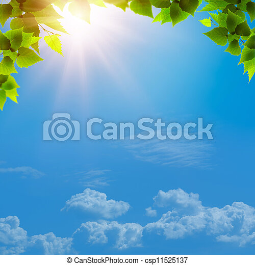 Under the blue skies. Abstract natural backgrounds for your design - csp11525137