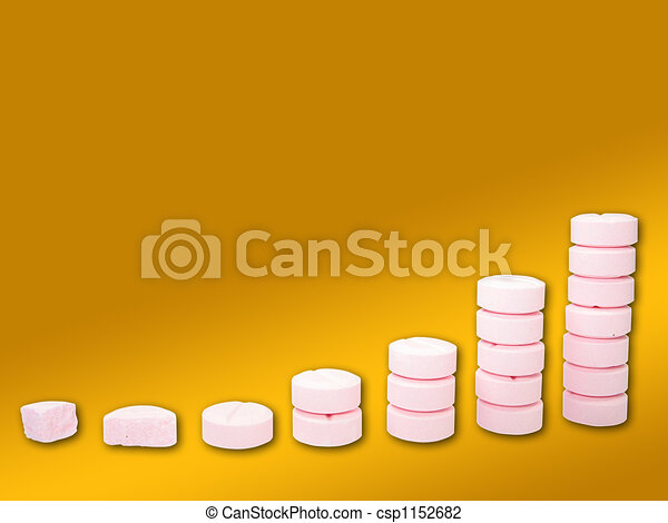 Ladder from pharmaceutical drugs over a gradient background - csp1152682
