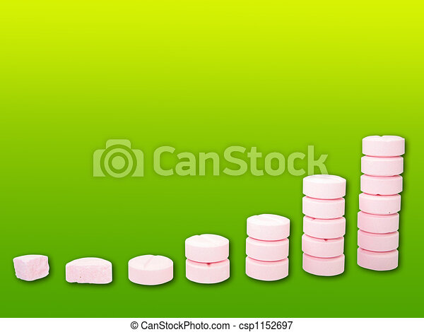 Ladder from pharmaceutical drugs over gradient background - csp1152697