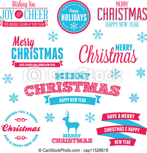 Christmas holiday labels - csp11528618
