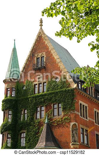 Historic building in the Speicherstadt in Hamburg - csp11529182