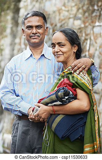 Happy indian adult people couple - csp11530633