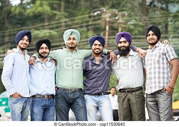Young adult indian sikh men - csp11530643
