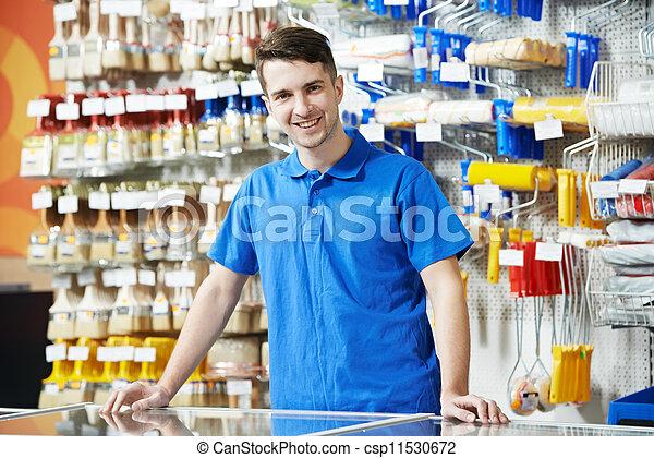 Seller at home improvement store - csp11530672