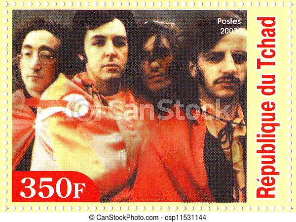 REPUBLIC CHAD - CIRCA 2003 : The Beatles  - 1960s famous musical pop group. - csp11531144