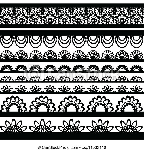 Vector Clip Art Of Set Of Beautiful Lace Vector Trims Can Be Used For Use Csp11532110