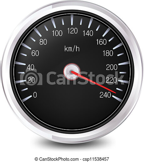 Automobile Speedometer. Vector - csp11538457