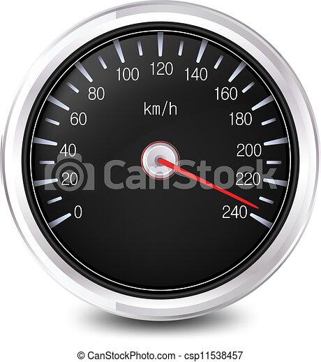 Automobile Speedometer. Vector - csp11538457