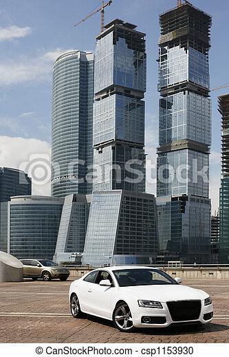 White automobile - csp1153930