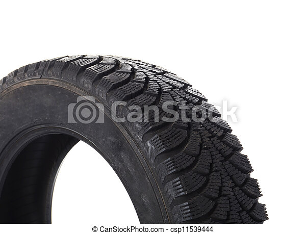 Automobile tire isolated on white background - csp11539444