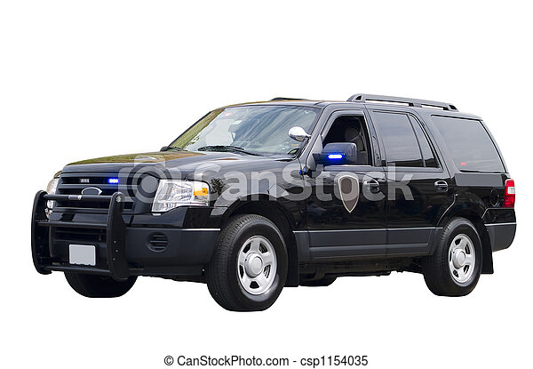 Government Vehicle Isolated - csp1154035