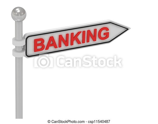 BANKING arrow sign with letters  - csp11540487