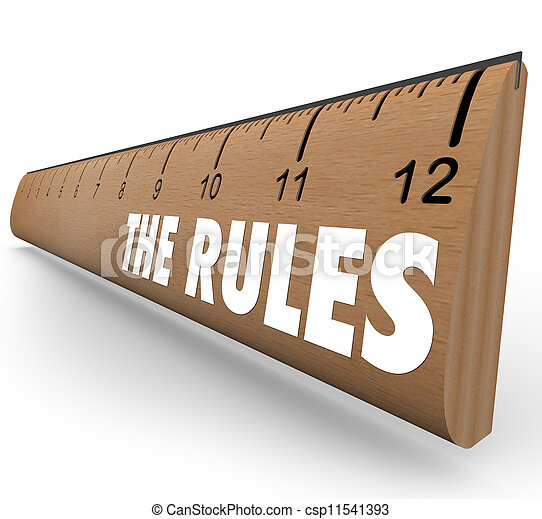 The Rules Ruler Guidelines Regulations Laws Limits - csp11541393