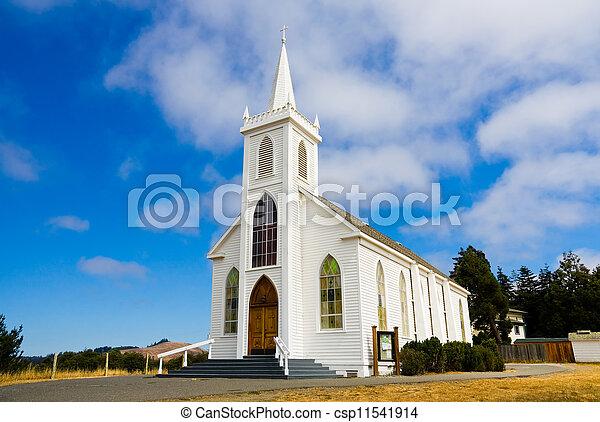 Little white church - csp11541914
