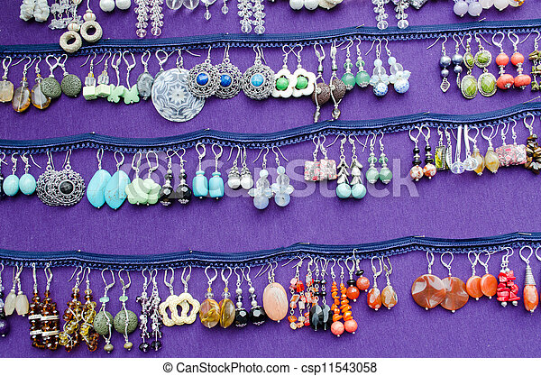 handmade decorative earring jewelry sell fair