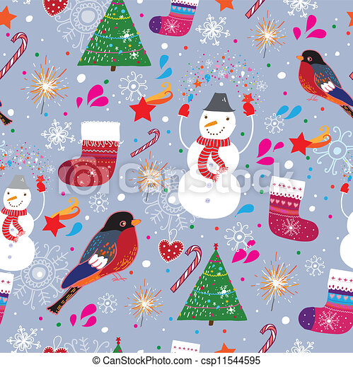 Winter seamless pattern - csp11544595