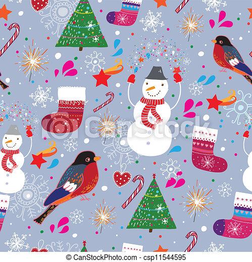 Winter seamless pattern - csp11544595
